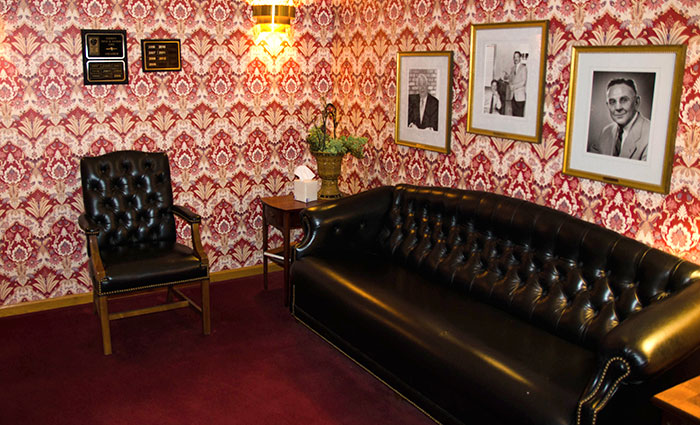 photo of the Schmitt Title lobby couch and chair